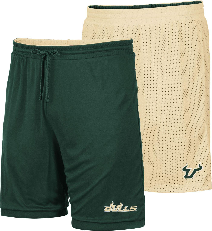Colosseum Men's South Florida Bulls Green/Gold Wiggum Reversible Shorts