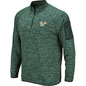 Colosseum Men's South Florida Bulls Green Quarter-Zip Shirt