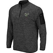 Colosseum Men's South Florida Bulls Grey Quarter-Zip Shirt