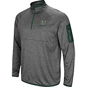 Colosseum Men's South Florida Bulls Grey Indus River Quarter-Zip Shirt
