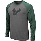 Colosseum Men's South Florida Bulls Grey Rad Tad Raglan Long Sleeve T-Shirt