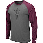 Colosseum Men's Arizona State Sun Devils Grey Rad Tad Raglan Long Sleeve T-Shirt