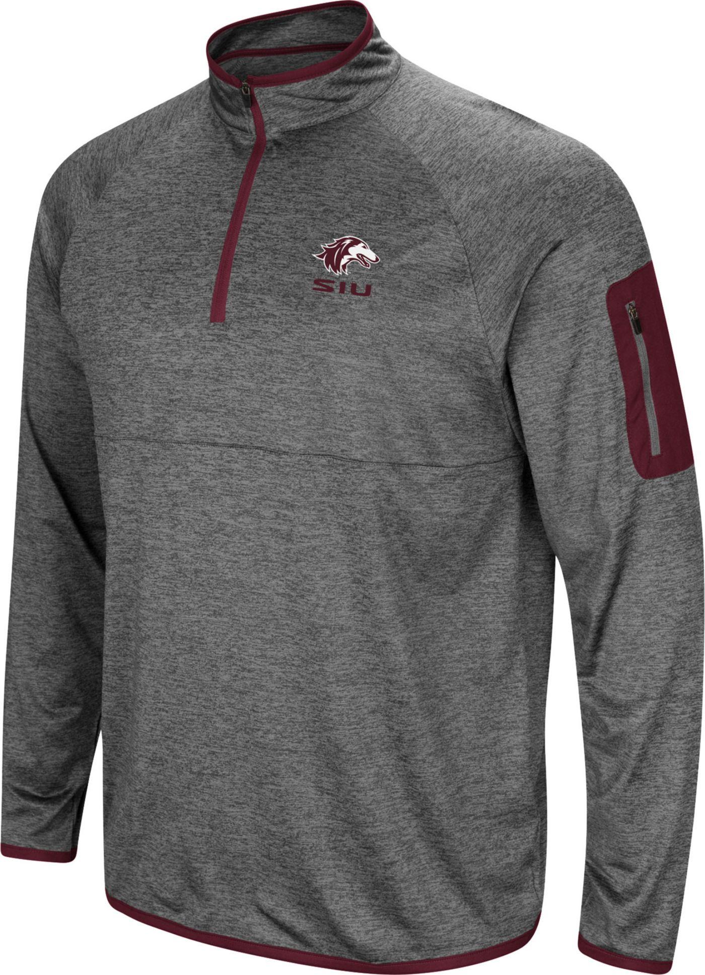 Colosseum Men's Southern Illinois  Salukis Grey Indus River Quarter-Zip Shirt