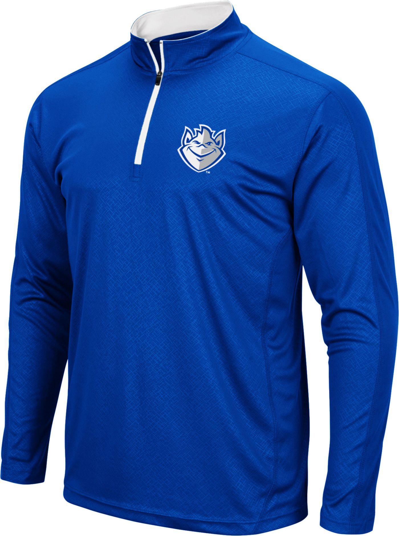 Colosseum Men's Saint Louis Billikens Blue Loggerhead Quarter-Zip Shirt