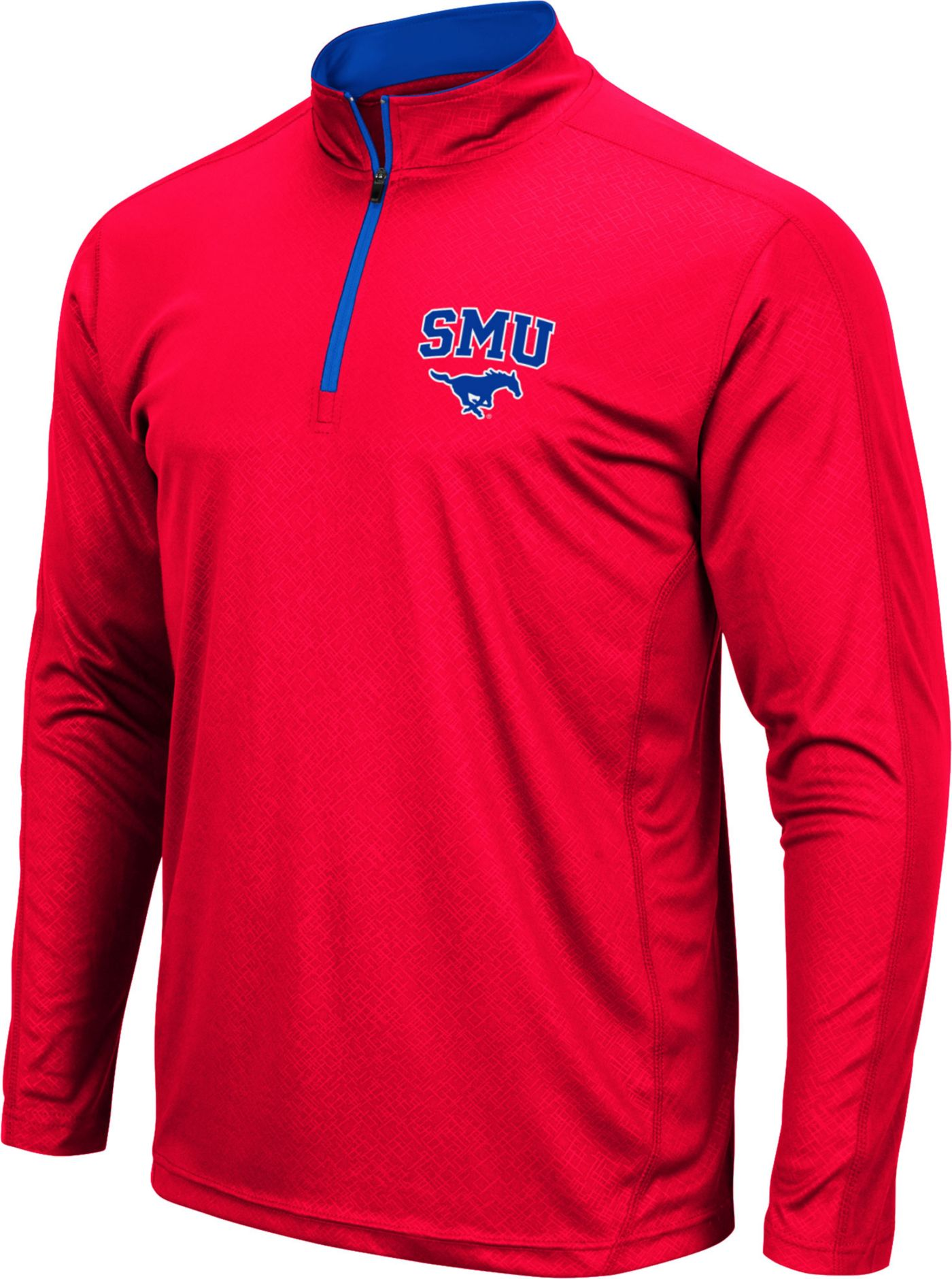 Colosseum Men's Southern Methodist Mustangs Red Loggerhead Quarter-Zip Shirt