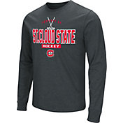 Colosseum Men's St. Cloud State Huskies Dual Blend Long-Sleeve Hockey Black T-Shirt