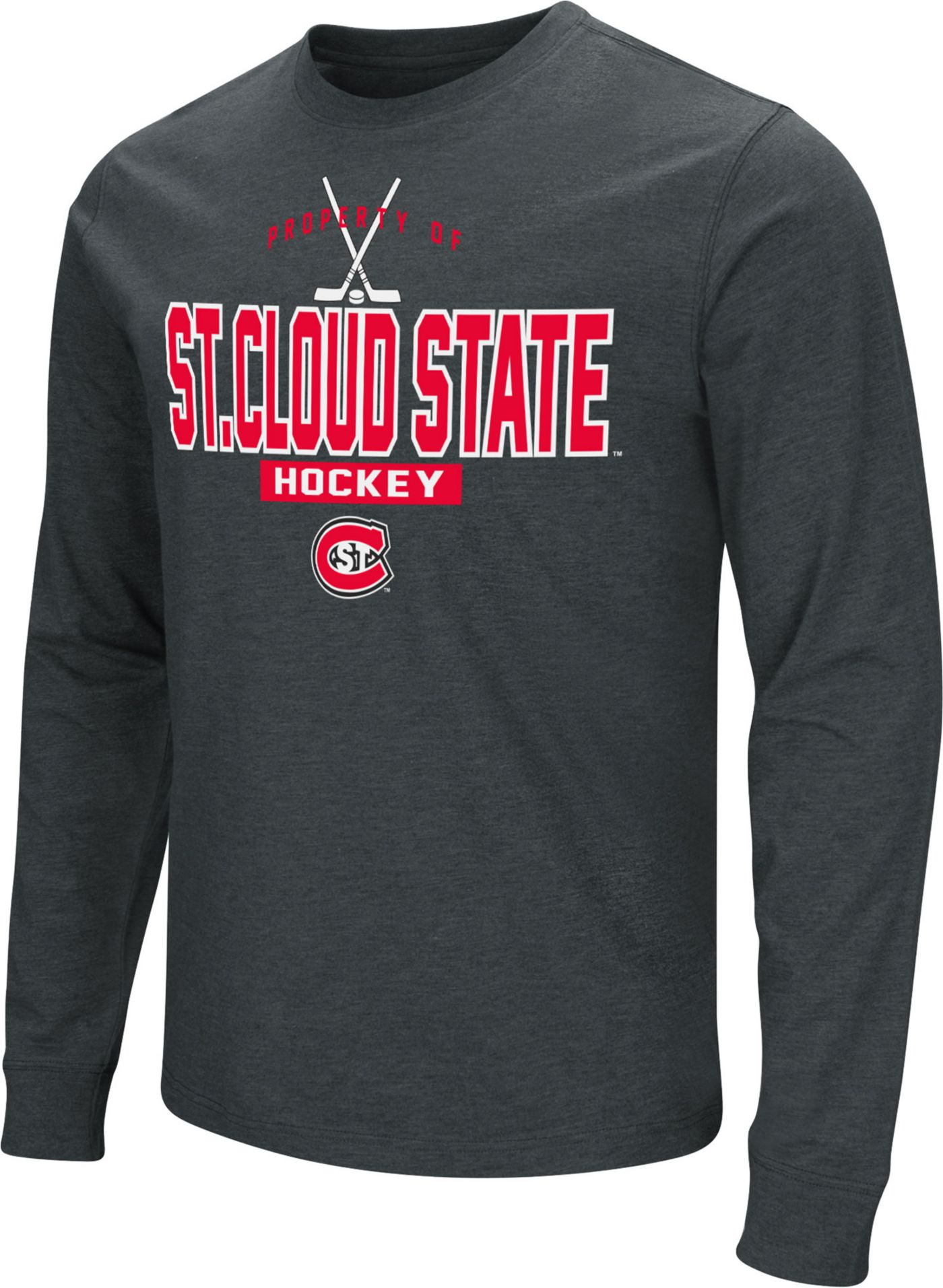 Colosseum Men's St. Cloud State Huskies Dual Blend Long-Sleeve Hockey Black T-Shirt