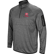 Colosseum Men's St. Cloud State Huskies Grey Indus River Quarter-Zip Shirt
