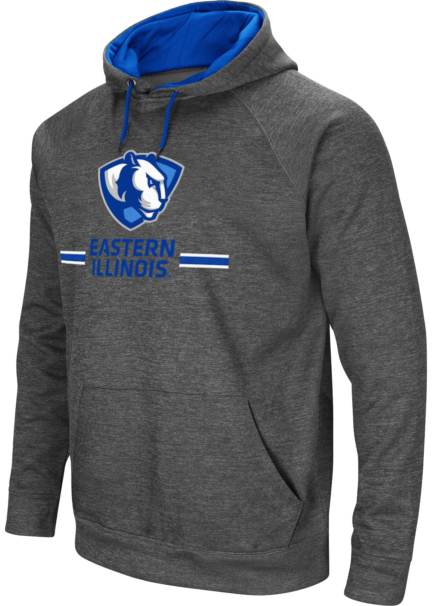 Colosseum Men's Eastern Illinois Panthers Grey Pullover Hoodie