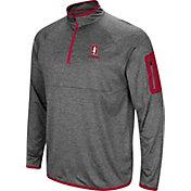 Colosseum Men's Stanford Cardinal Grey Indus River Quarter-Zip Shirt