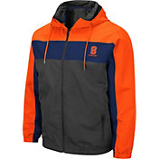 Colosseum Men's Syracuse Orange Grey Brockman Full-Zip Jacket