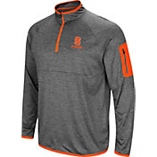 Colosseum Men's Syracuse Orange Grey Indus River Quarter-Zip Shirt