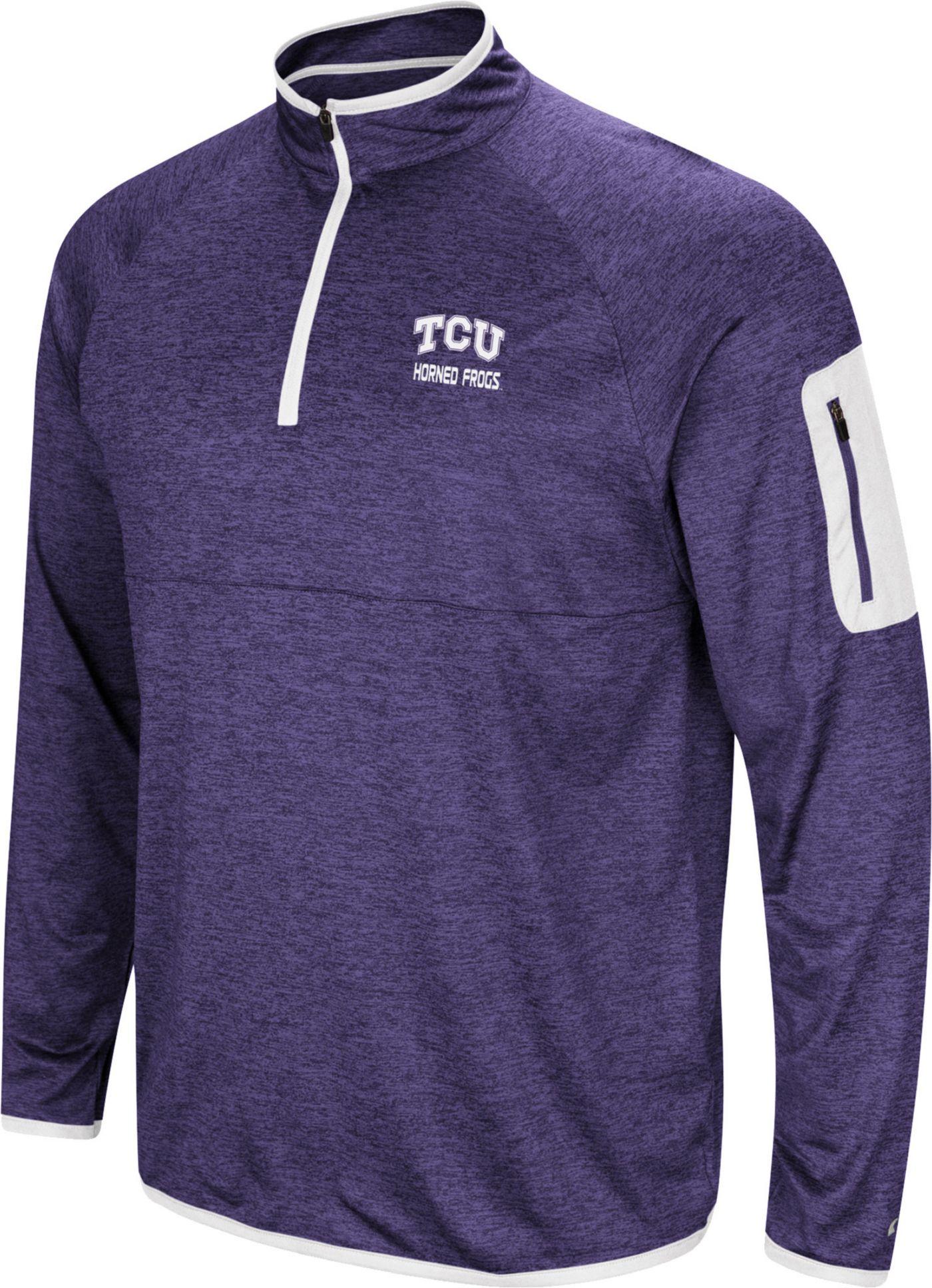Colosseum Men's TCU Horned Frogs Purple Indus River Quarter-Zip Shirt