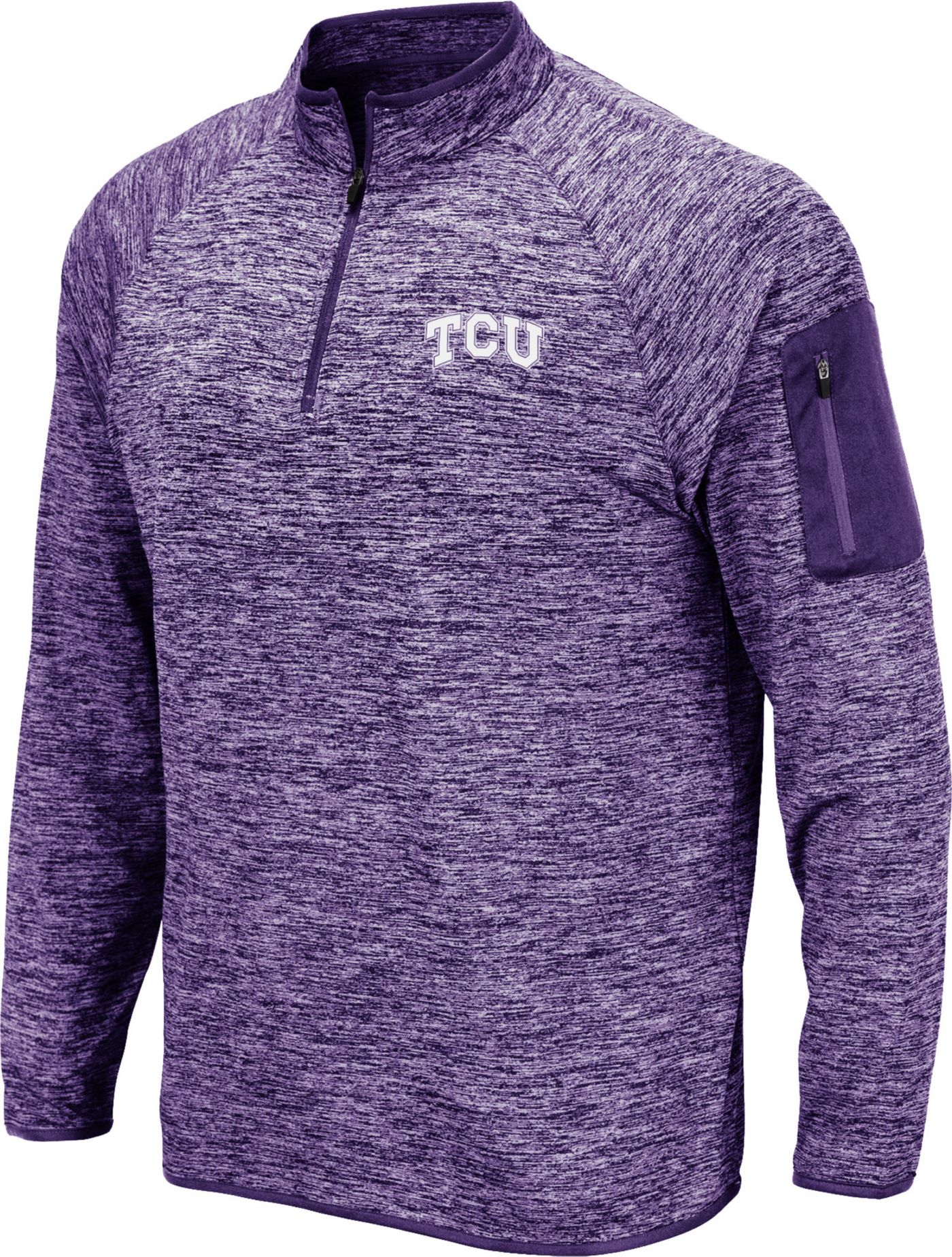 Colosseum Men's TCU Horned Frogs Purple Quarter-Zip Shirt
