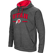 Colosseum Men's Utah Utes Grey Pullover Hoodie