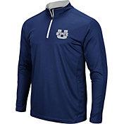 Colosseum Men's Utah State Aggies Blue Loggerhead Quarter-Zip Shirt