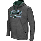 Colosseum Men's Tulane Green Wave Grey Pullover Hoodie