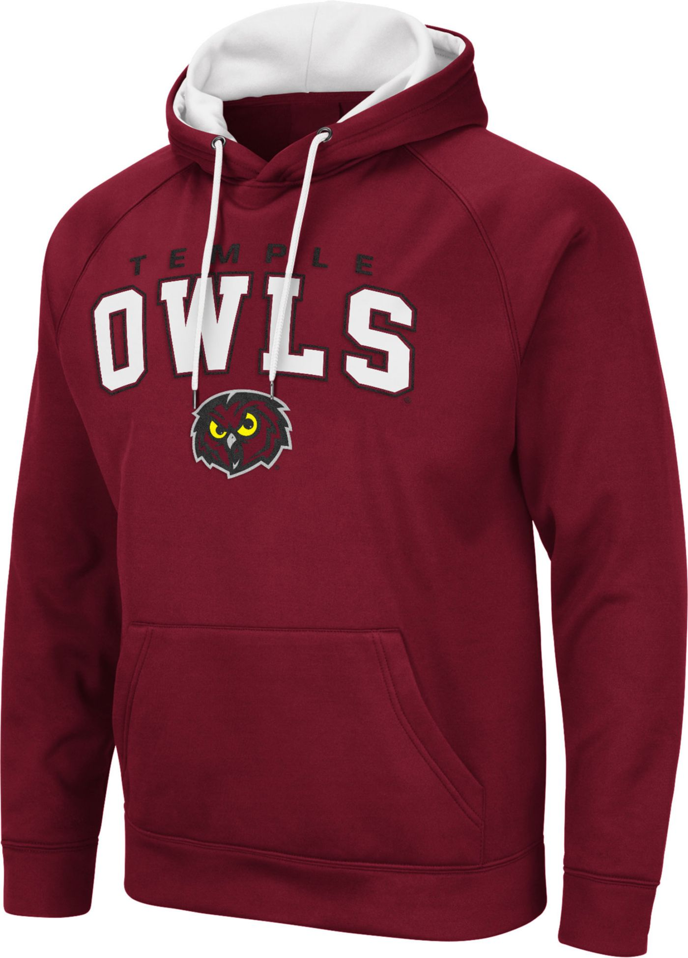 Colosseum Men's Temple Owls Green Pullover Hoodie