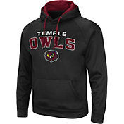 Colosseum Men's Temple Owls Pullover Black Hoodie