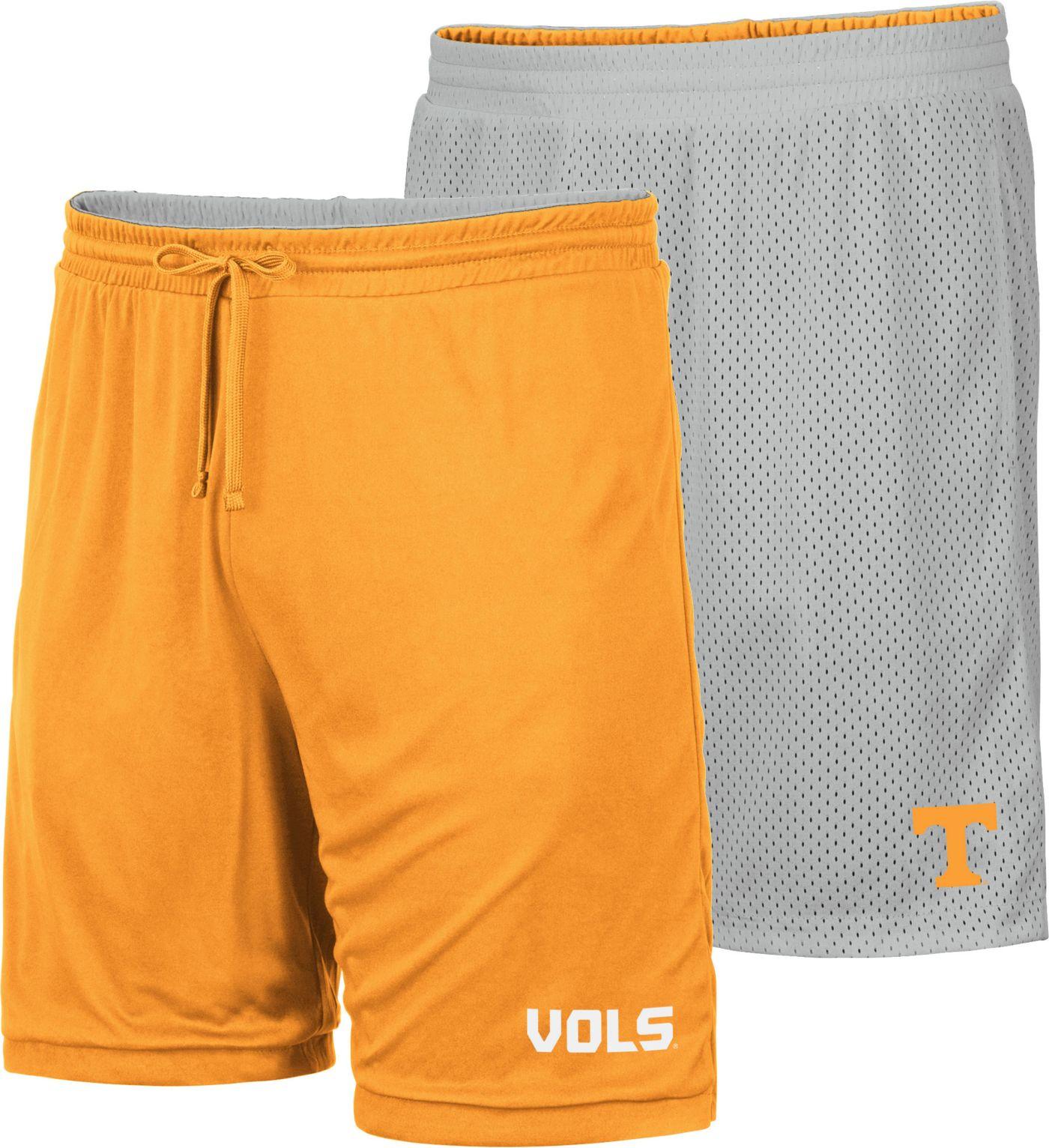 Colosseum Men's Tennessee Volunteers Tennessee Orange/Grey Wiggum Reversible Shorts