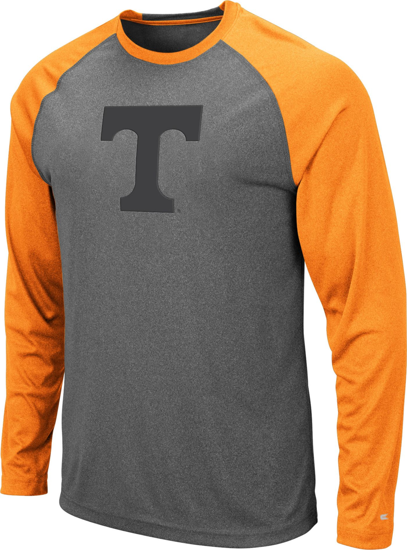 Colosseum Men's Tennessee Volunteers Grey Rad Tad Raglan Long Sleeve T-Shirt