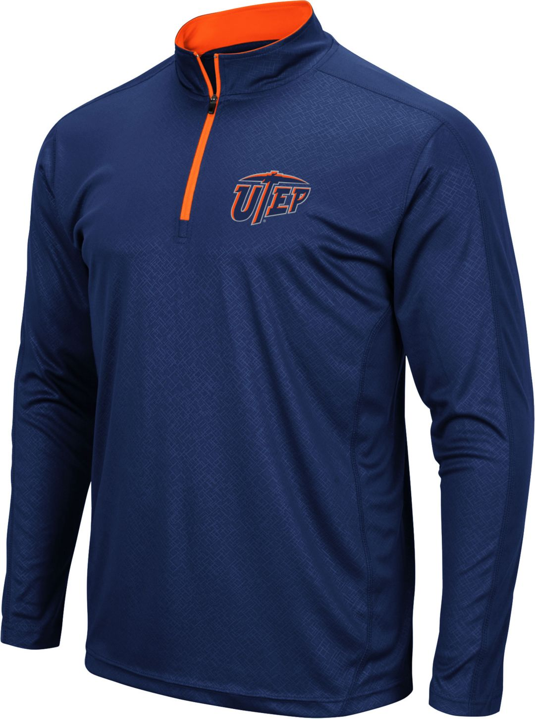 best service a3827 dd647 Colosseum Men's UTEP Miners Navy Loggerhead Quarter-Zip Shirt
