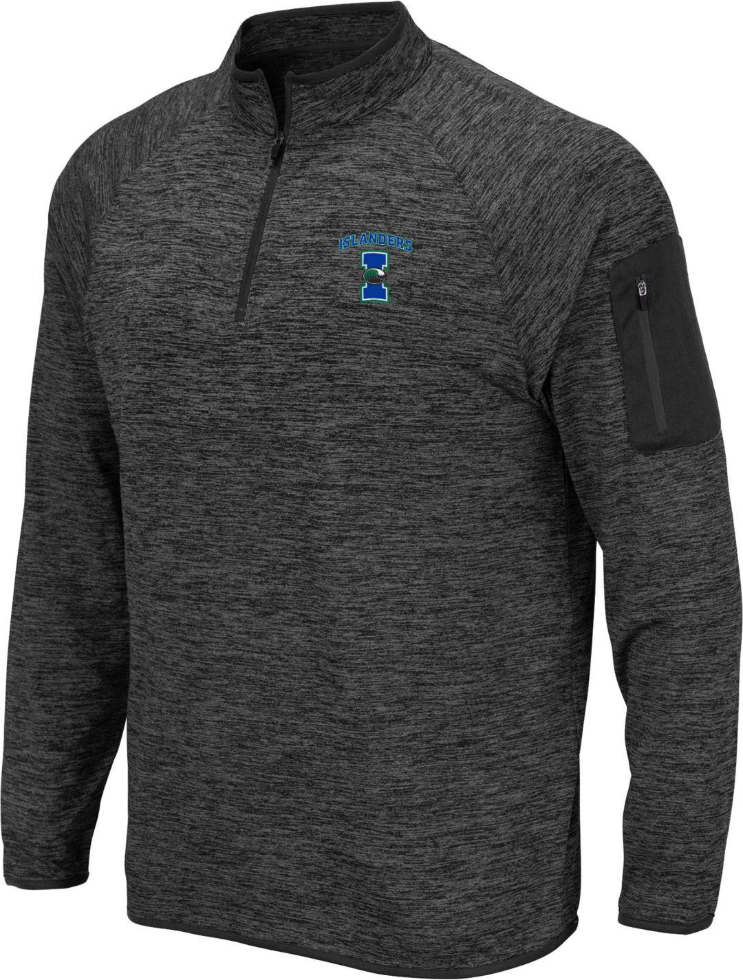 cheap for discount 140b8 2e2a9 Colosseum Men's Texas A&M- Corpus Christi Islanders Grey Quarter-Zip Shirt