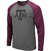 Colosseum Men's Texas A&M Aggies Grey Rad Tad Raglan Long Sleeve T-Shirt