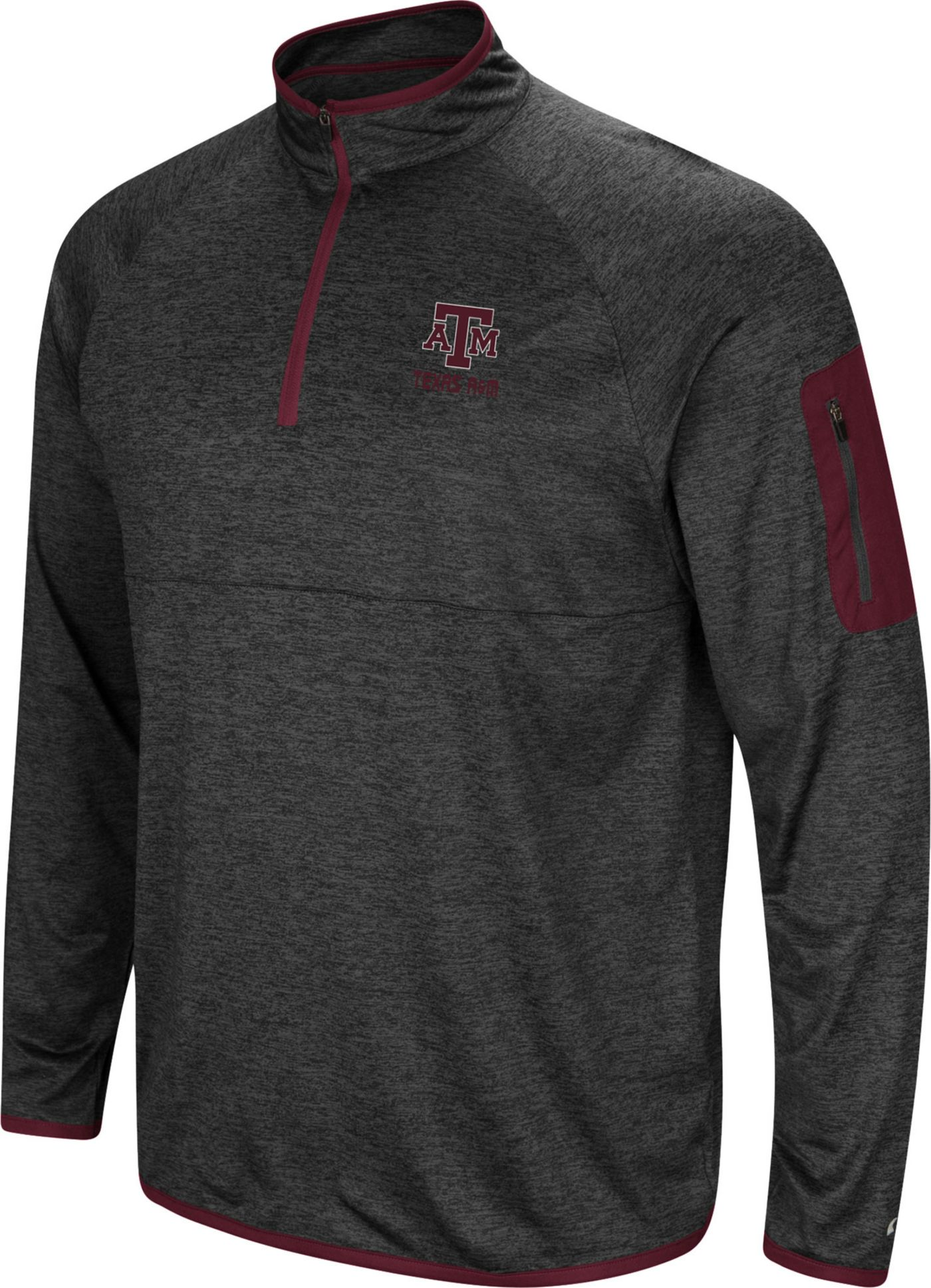 Colosseum Men's Texas A&M Aggies Indus River Quarter-Zip Black Shirt