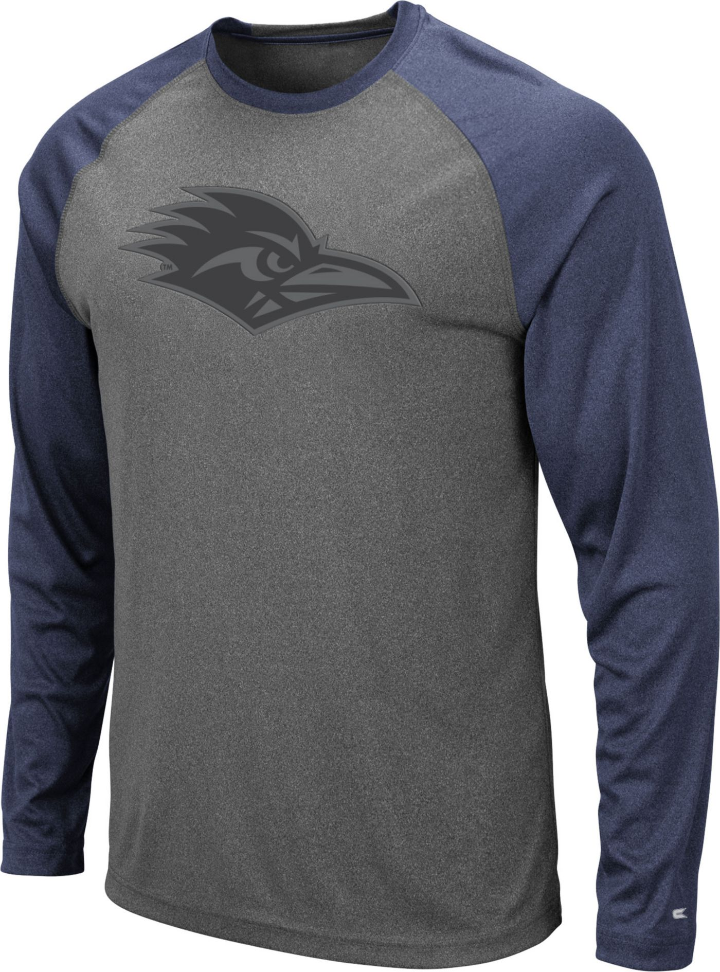 Colosseum Men's UT San Antonio Roadrunners Grey Rad Tad Raglan Long Sleeve T-Shirt