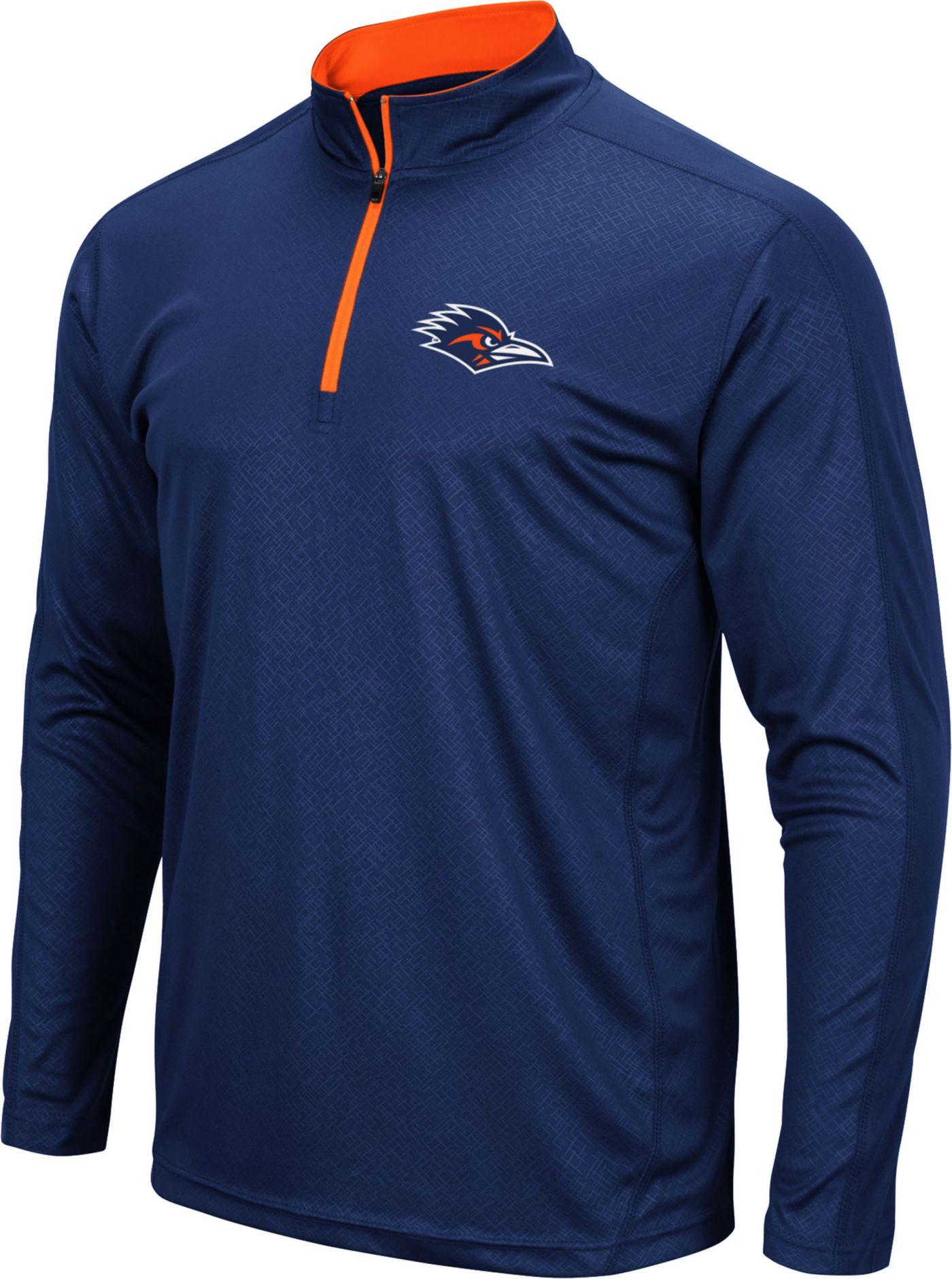 Colosseum Men's UT San Antonio Roadrunners Blue Loggerhead Quarter-Zip Shirt