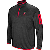 Colosseum Men's Texas Tech Red Raiders Indus River Quarter-Zip Black Shirt