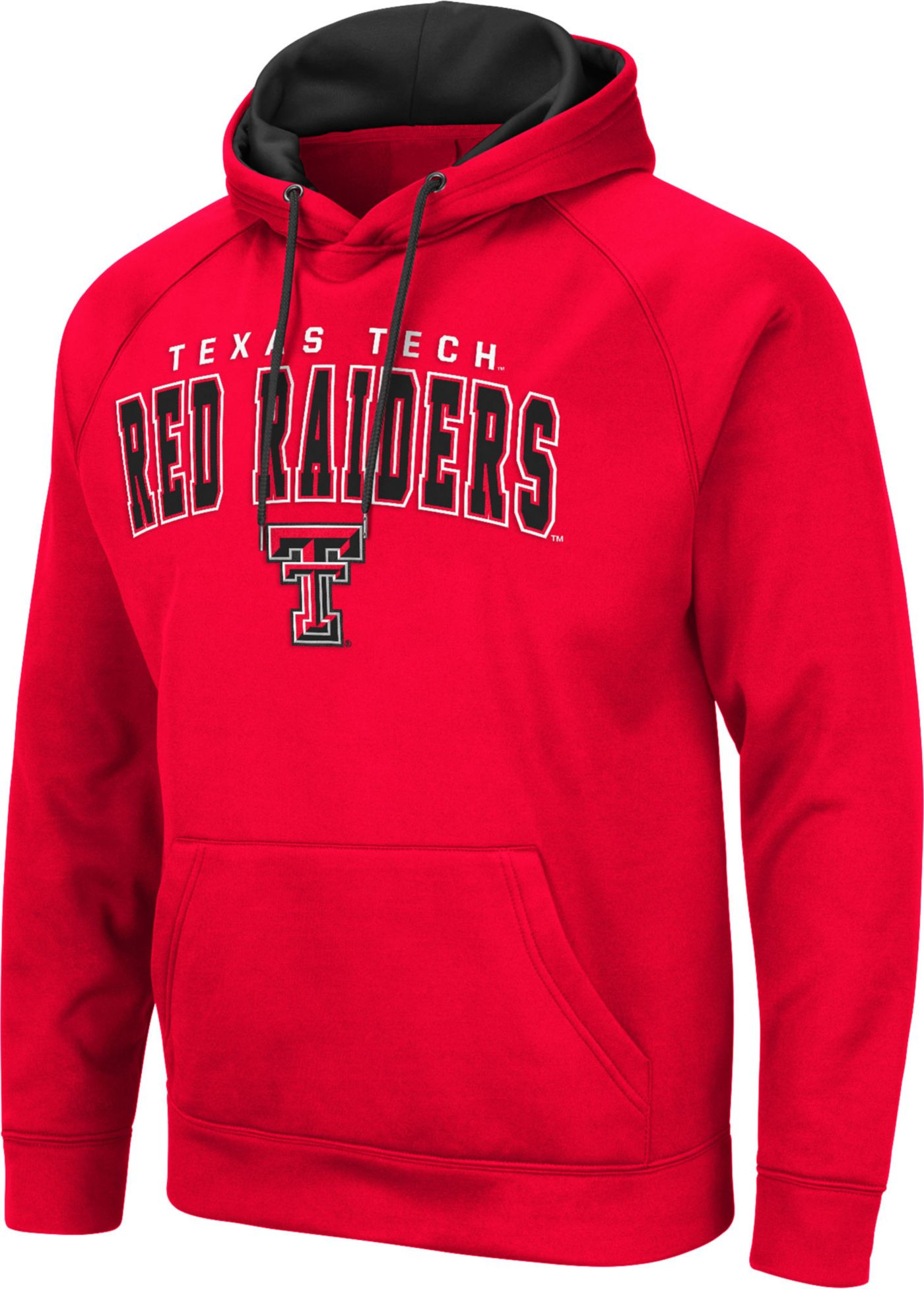 Colosseum Men's Texas Tech Red Raiders Pullover Black Hoodie