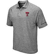 Colosseum Men's Texas Tech Red Raiders Grey Chip Shot Polo