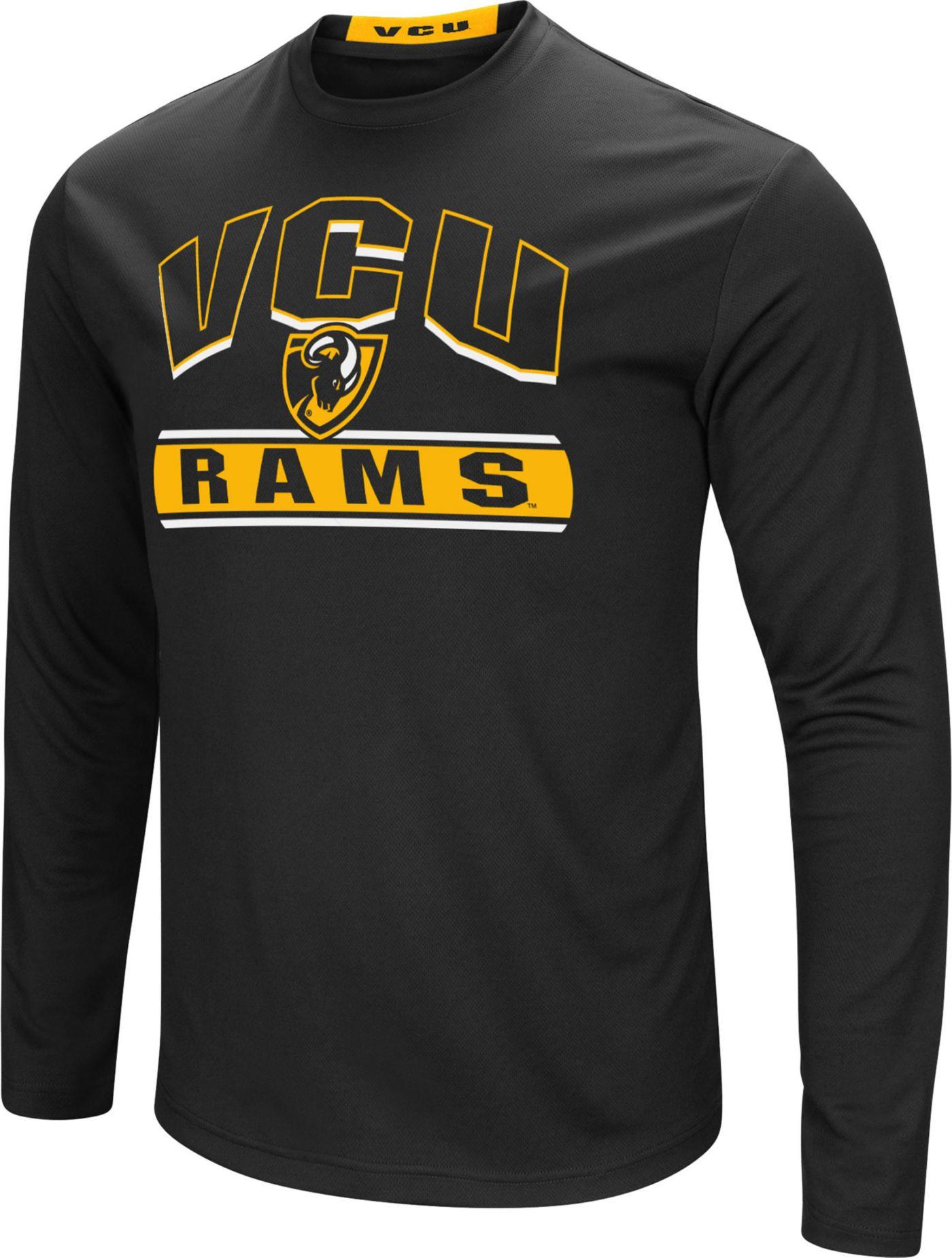 Colosseum Men's VCU Rams Ganges Long Sleeve Black T-Shirt