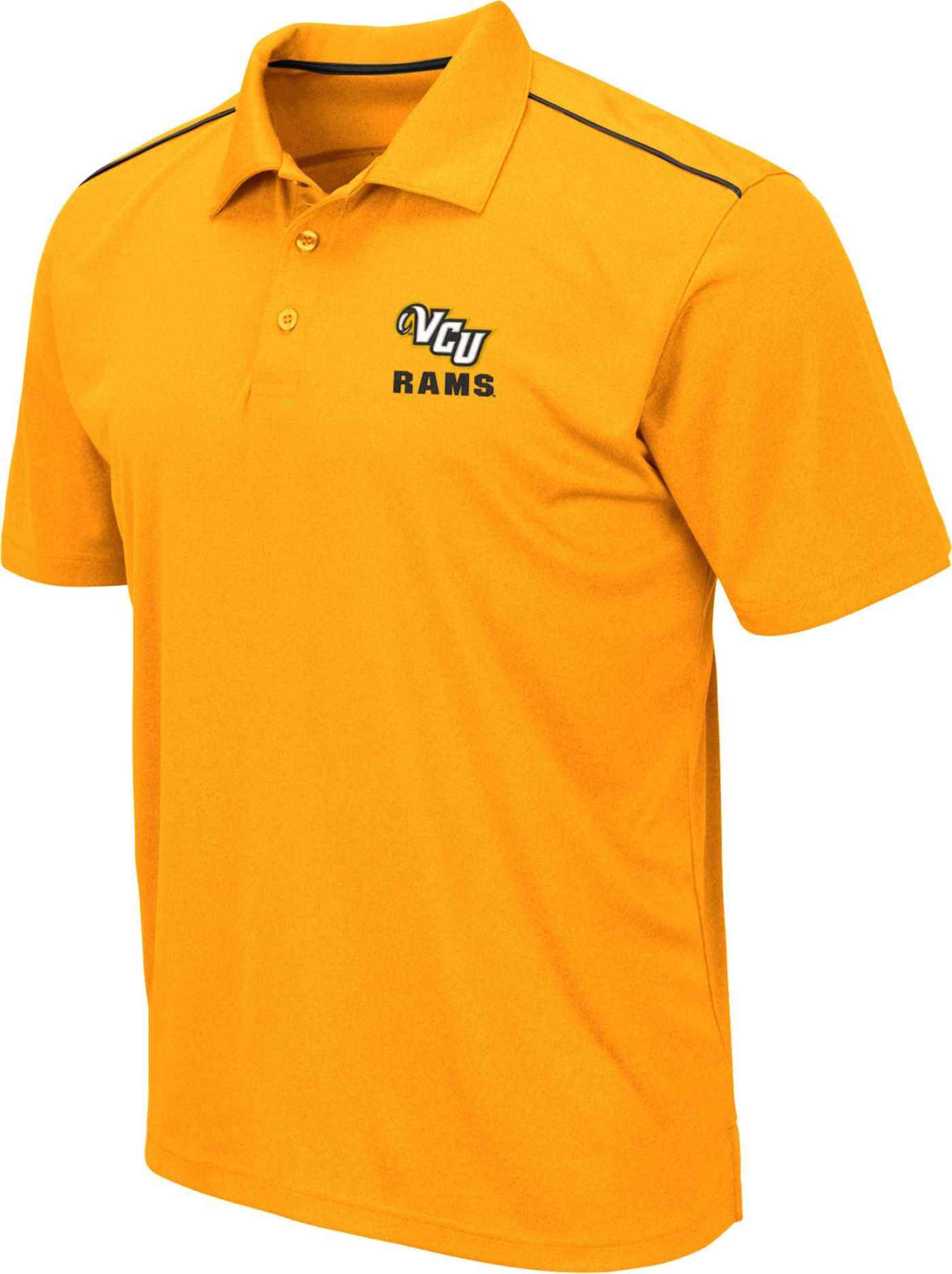 Colosseum Men's VCU Rams Gold Eagle Polo