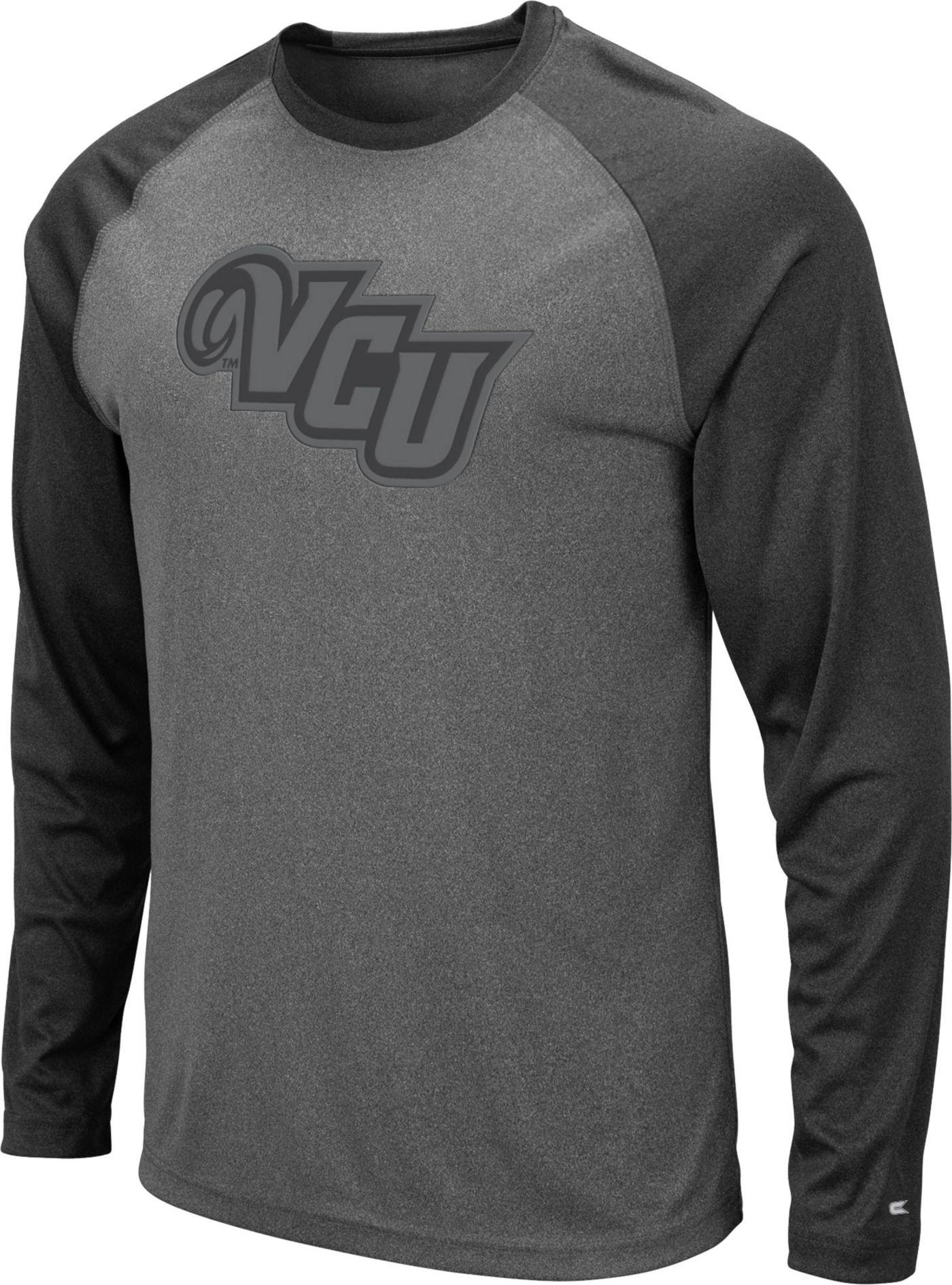 Colosseum Men's VCU Rams Grey Rad Tad Raglan Long Sleeve T-Shirt