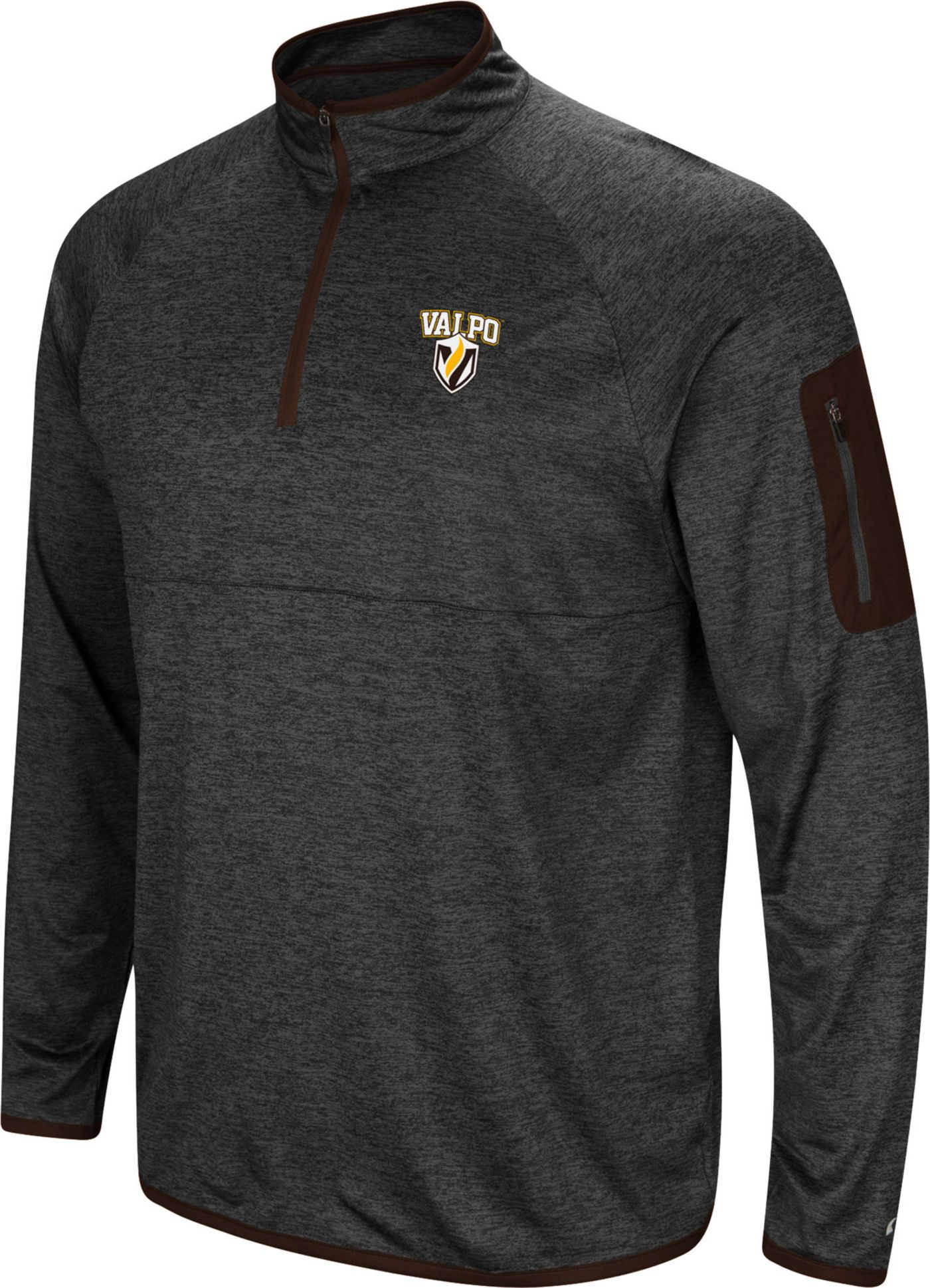 Colosseum Men's Valparaiso Crusaders Indus River Quarter-Zip Black Shirt