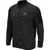 Colosseum Men's Vanderbilt Commodores Quarter-Zip Black Shirt