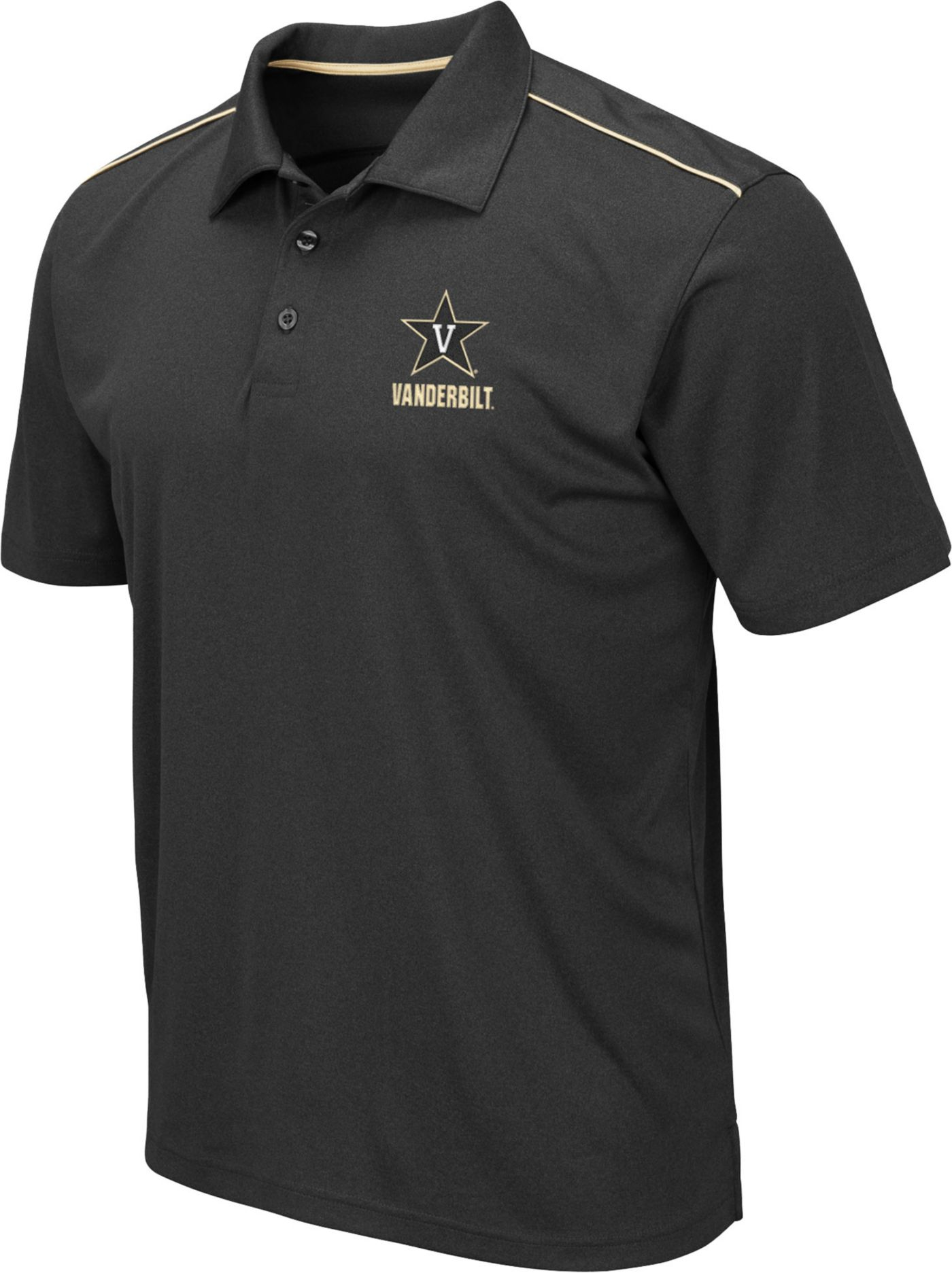 Colosseum Men's Vanderbilt Commodores Black Eagle Polo