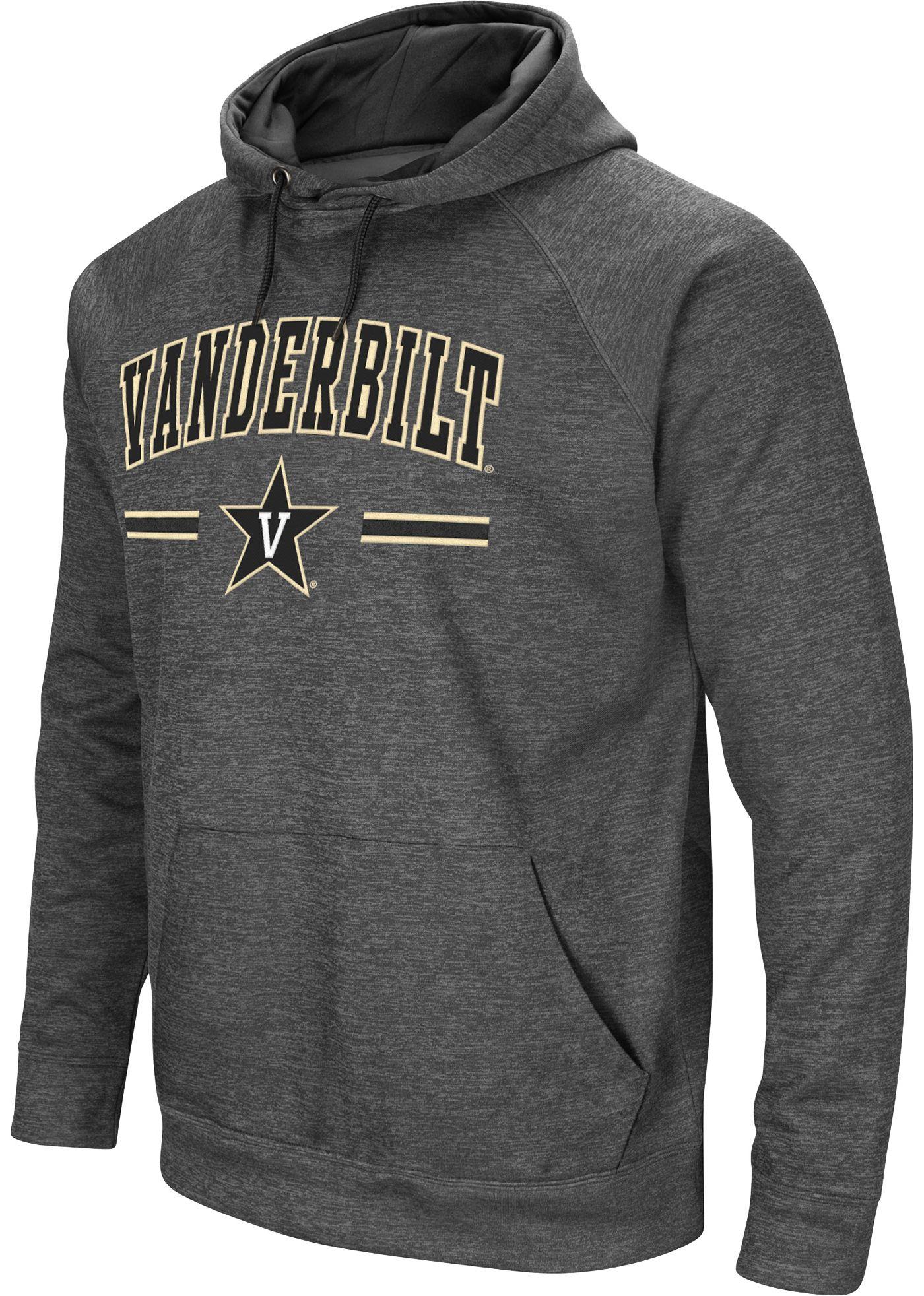 Colosseum Men's Vanderbilt Commodores Grey Pullover Hoodie