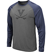 Colosseum Men's Virginia Cavaliers Grey Rad Tad Raglan Long Sleeve T-Shirt