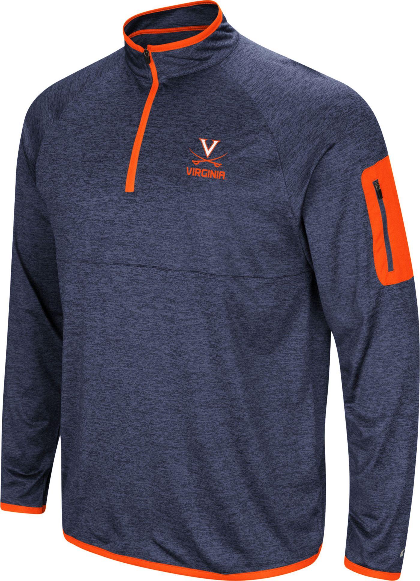 Colosseum Men's Virginia Cavaliers Blue Indus River Quarter-Zip Shirt