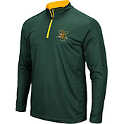 Colosseum Men's Vermont Catamounts Green Loggerhead Quarter-Zip Shirt