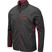 Colosseum Men's Virginia Tech Hokies Grey Bumblebee Man Full-Zip Jacket