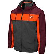 Colosseum Men's Virginia Tech Hokies Grey Brockman Full-Zip Jacket