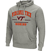 Colosseum Men's Virginia Tech Hokies Grey Campus Pullover Hoodie