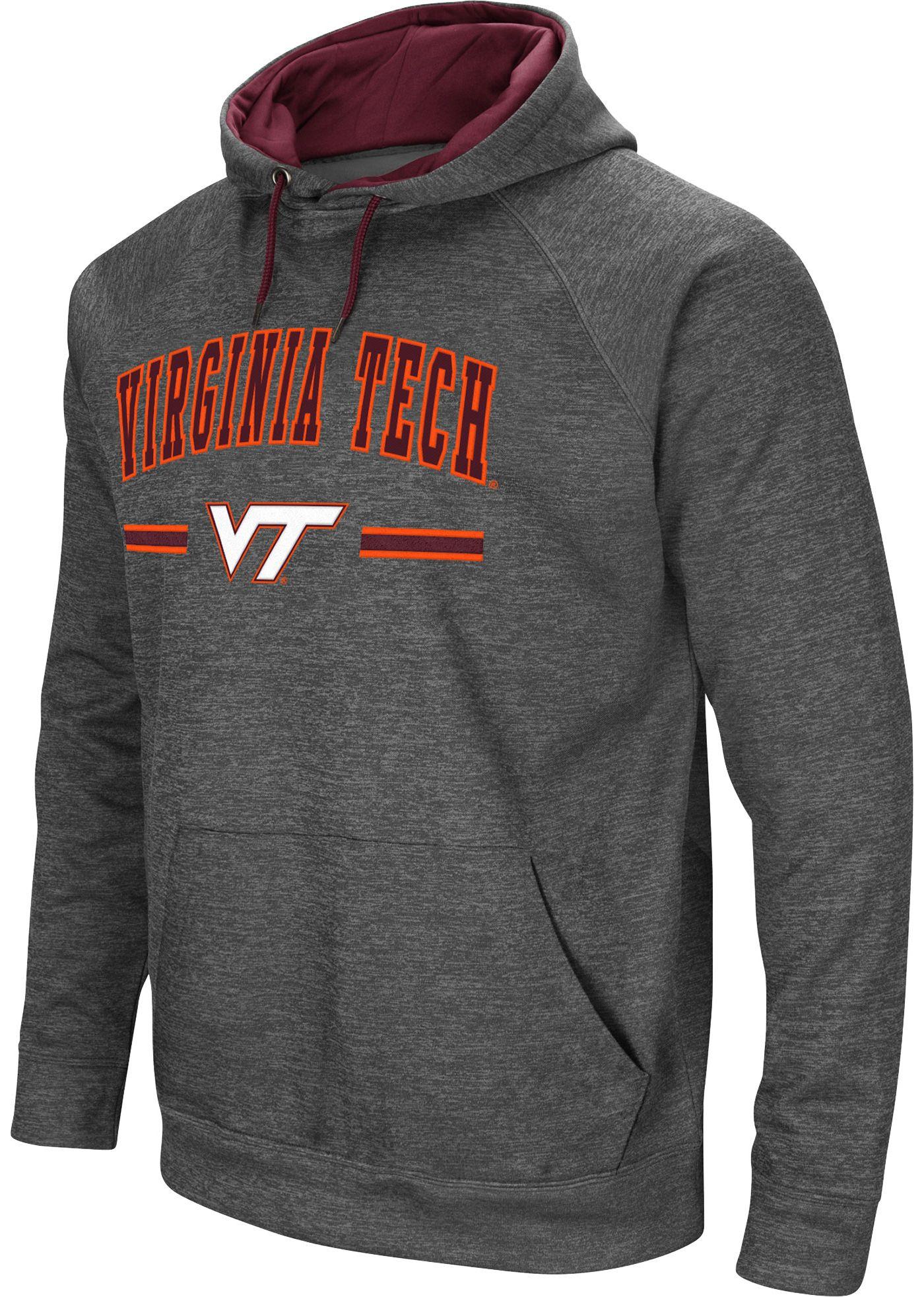 Colosseum Men's Virginia Tech Hokies Grey Pullover Hoodie