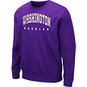 Colosseum Men's Washington Huskies Purple Comic Book Crew Sweatshirt