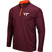 Colosseum Men's Virginia Tech Hokies Maroon Loggerhead Quarter-Zip Shirt